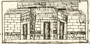Pic 1: 'Adjoining houses', Florentine Codex Book 11