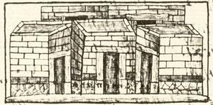 Pic 1: 'Adjoining houses', Florentine Codex Book 11
