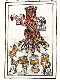 Pic 8: Offering food to the gods, festival of Toxcatl, Florentine Codex Book 2