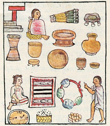 Pic 9: Market display, Florentine Codex Book 8