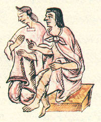 Pic 15: Aztec husband and wife, Florentine Codex Book 2