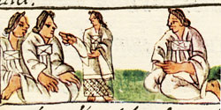 Pic 20: Mexica noblewomen, Florentine Codex Book 10