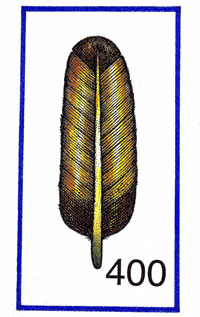 Pic 4: The Mexica symbol for 400 - a feather (or hair)