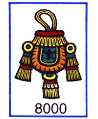 Pic 5: The Mexica symbol for 8,000 - an incense bag