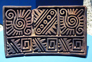 Mexica (Aztec) clay stamp