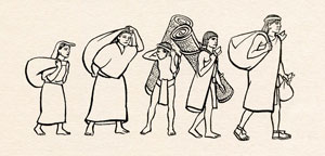 'Speaking Eagle's family, bent down with the weight of things to trade they carried on their backs, joined the throng of other Aztecs, all hurrying along like thousands of scurrying ants...'