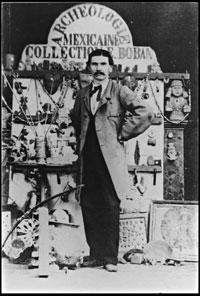 Pic 6: 1867 photo of Eugene Boban with his collection of pre-Hispanic artifacts at the Paris Exposition Universelle