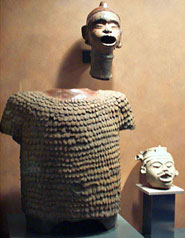 Pic 8: Front view of pottery torso of Xipe Totec, still on exhibition in the National Anthropology Museum in Mexico City