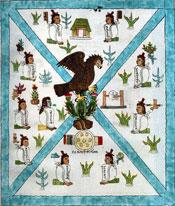 Tenochtitlan: folio 2 of the Codex Mendoza (detail)