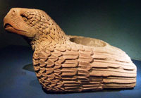 Eagle 'cuauhxicalli' sacrifice vessel, Templo Mayor Museum, Mexico City