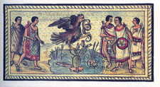 The founding of Tenochtitlan, Historia Durán folio 14v