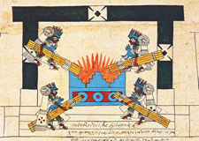 Pic 8: New Fire Ceremony, Codex Borbonicus folio 34 (detail)