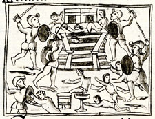 Pic 9: The Spanish assault a Mexican temple, Florentine Codex Book 12