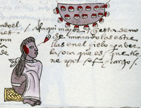 Pic 1: Mexica astronomer-priest studies the night sky, Codex Mendoza folio 63r (detail)