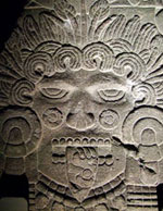 Pic 2: Stone image of Tlaltecuhtli, Templo Mayor Museum