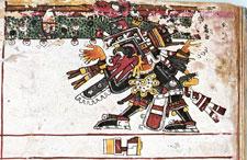 Pic 2: Quetzalcóatl as bearer of the sky, Codex Borgia pl 51