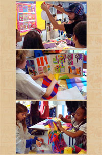 A Mexicolore piñata making workshop in full swing...