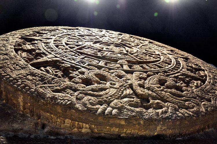 Aztec Calendar Stone.The Sky Band