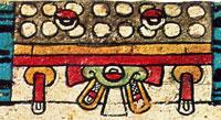 Pic 2: Detail of the night sky, Codex Borbonicus folio 16
