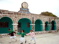 The local school, San Isidro Buensuceso, Tlaxcala