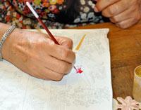 Ilustración 4: Dinorah actualmente emplea más colores modernos y menos pigmentos tradicionales.