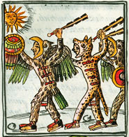 Eagle and jaguar warriors, Florentine Codex Book II
