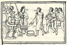 Pic 4: Doña Marina maintained her loyalty to the Spaniards to the end. Florentine Codex Book 12