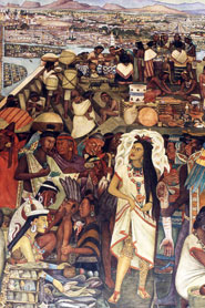 Pic 6: The influence of 'malinchismo' is clear in this depiction of La Malinche in Diego Rivera's mural of Mexican history