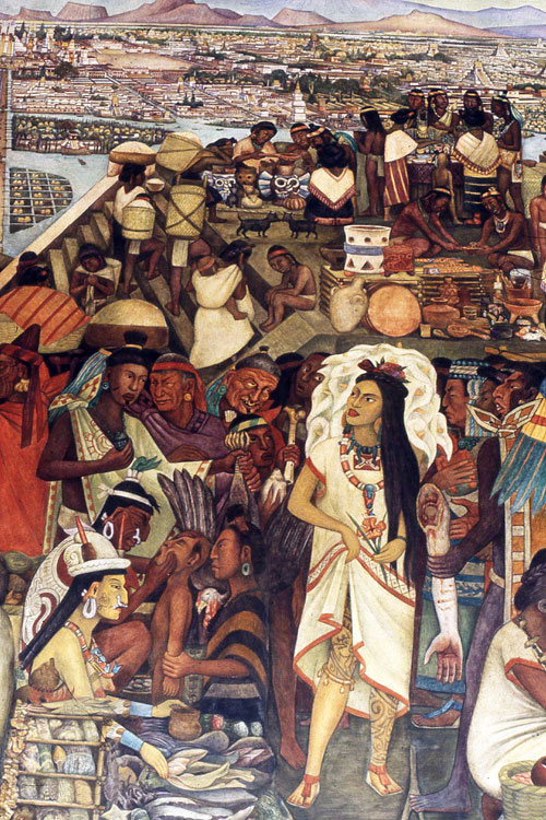 Do a marina part 2 for Diego rivera aztec mural