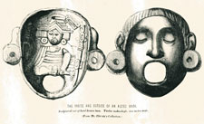 Pic 4: 'The inside and outside of an Aztec mask' in Henry Christy's collection, from 'Anahuac' by Edward Tylor (1861), p. 227