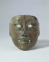 Pic 8: 'Mask, Veracruz? Olmec, Mexico, middle formative period (900-600BC), Robert and LIsa Sainsbury Collection, University of East Anglia'
