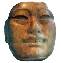 Pic 9: 'Olmec jade mask' from Río Pesquero; Xalapa Museum of Anthropology, Mexico