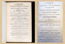 Pic 10: Two examples of 19th century European private collectors' sales catalogues