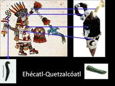 Pic 5: Los atributos de Ehécatl-Quetzalcóatl encontrados en uno de los cuchillos de la Ofrenda 125