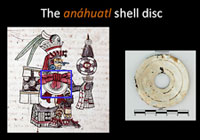 Pic 7: The 'anáhuatl' shell disc with codex representation