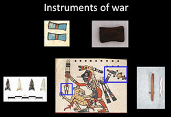 Pic 8: Projectile points and other artefacts of war