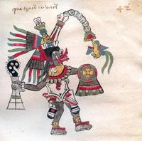 Pic 9: Quetzalcóatl, Codex Tudela, folio 42