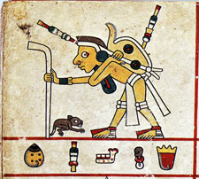 Pochteca merchant, Codex Fejervary Mayer, detail