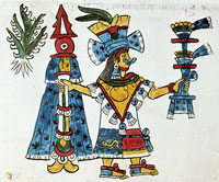 Pic 2: The Aztec/Mexica goddess Mayahuel sports a quechquémitl in the Codex Magliabecchiano