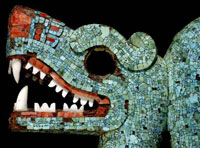 Pic 3: detail of BM turquoise double-headed serpent mask; copyright Trustees of the British Museum