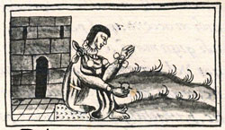 Pic 4: Aztec craftsman handling a pearl, Florentine Codex Book XI: 'they are really longed for, ever desirable, a sought-after thing...'