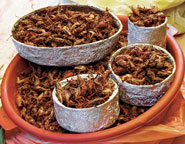 Pic 4: 'Chapulines' on sale in the market of Tepoztlan