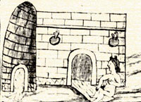 Pic 6: Using the 'temazcal', Aztec steam bath, Florentine Codex Book 11