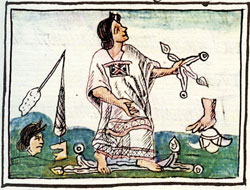 Pic 9: 'The harlot' (woman of 'loose morals'), Florentine Codex, Book 10