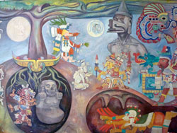 Pic 6: Between natural and supernatural worlds; detail of mural by R. Anguiano (1964), National Museum of Anthropology, Mexico City