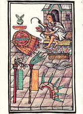 Pic 2: Mexica featherwork in the making, Florentine Codex Book IX