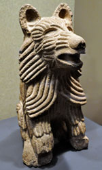 Pic 18: Sculpture of a 'plumed coyote', National Museum of Anthropology, Mexico City