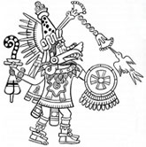 Pic 18: One of the giants: Quetzalcóatl, from the Codex Magliabechiano; illustration by Miguel Covarrubias