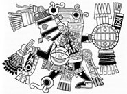Pic 19: One of the giants: Tezcatlipoca, from the Codex Borgia; illustration by Miguel Covarrubias