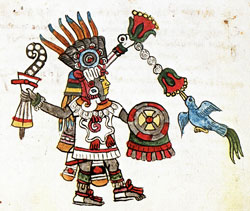 Quetzalcóatl in the Codex Magliabechiano, folio 62